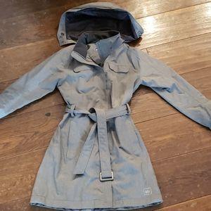 REI long rain jacket, xs